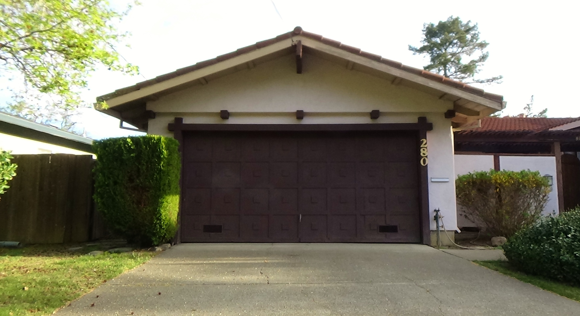 hardware one door garage piece swopes
